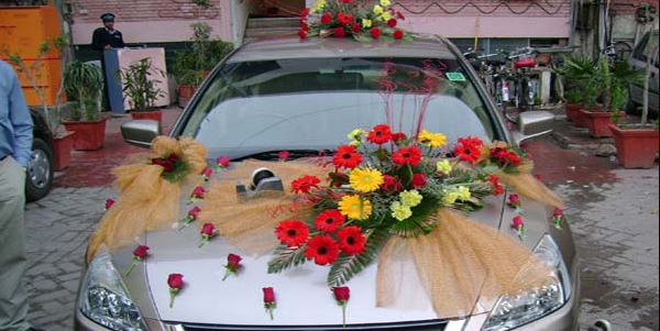 Elegantly Decorated Wedding Car Ideas Brooklyn Butt Buffer