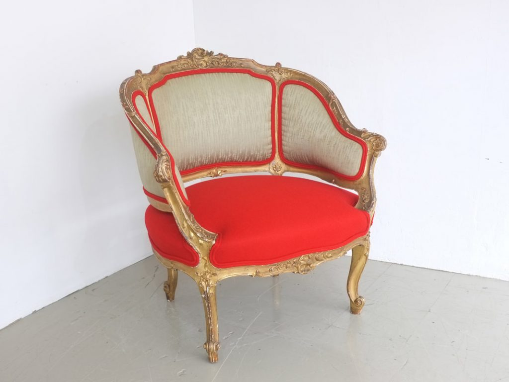 3D Model red upholstered luxurioud armchair