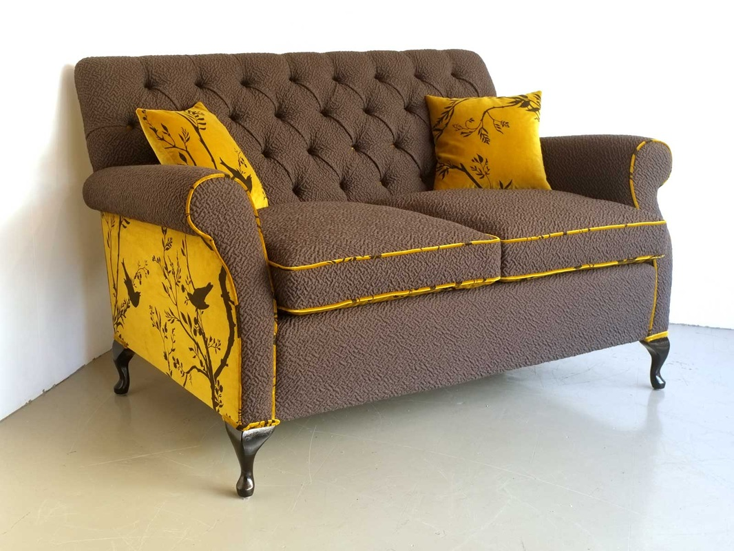 orange french provincial coach sofa upholstery with pillows