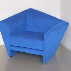 blue colored upholstery sofa