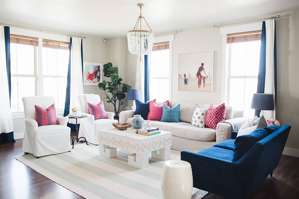 A Picture of modern living room organised with sofa.