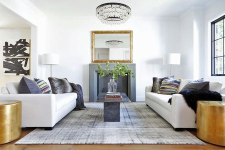 Image Showing Interior of living room with sofa.