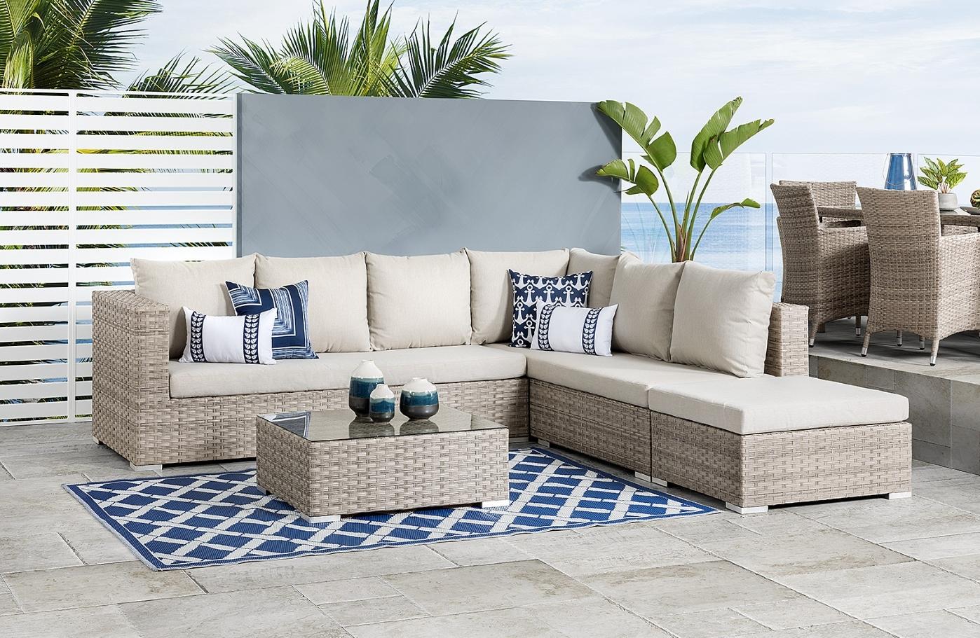 Image of luxurious simple ratton garden furnitures.
