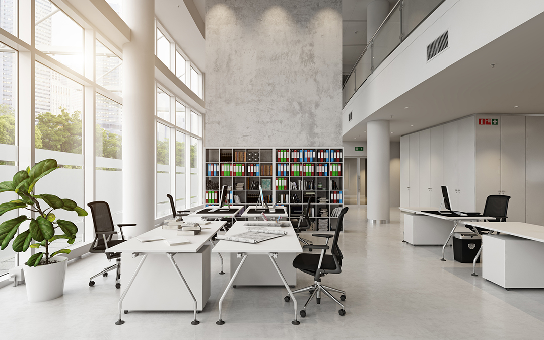 Image of a modern and contemporary library place.