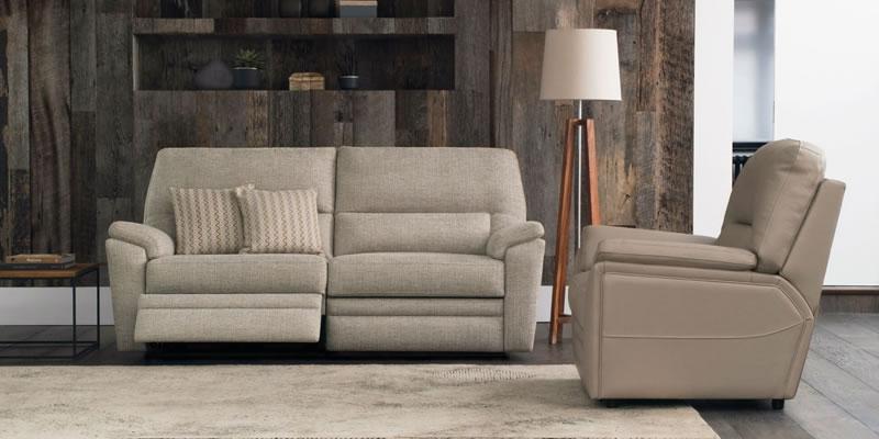 Big Grey Velvet Sofa In A Modern Living Room.