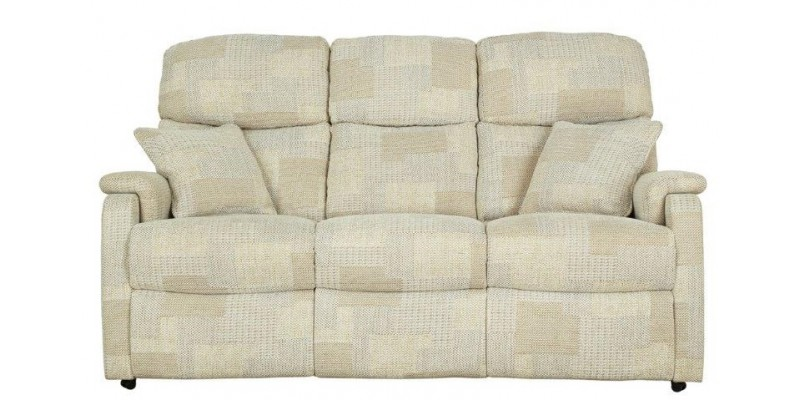 White Colored Classic Sofa Isolated On White Background.