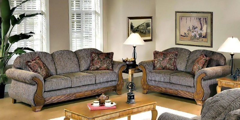 Modern Classic Background Interior With Grey Color Sofa.