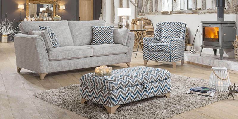 Modern Living Room With Home-Based Upholstery